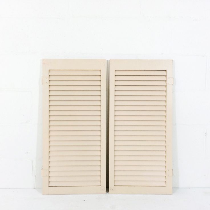 Pair of Pale Pink Shutters, great for card rack or hinge for freestanding display $30