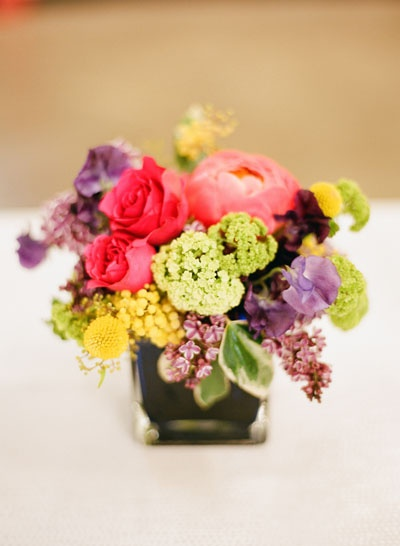 Spring Wedding Centerpiece By Signature Bloom