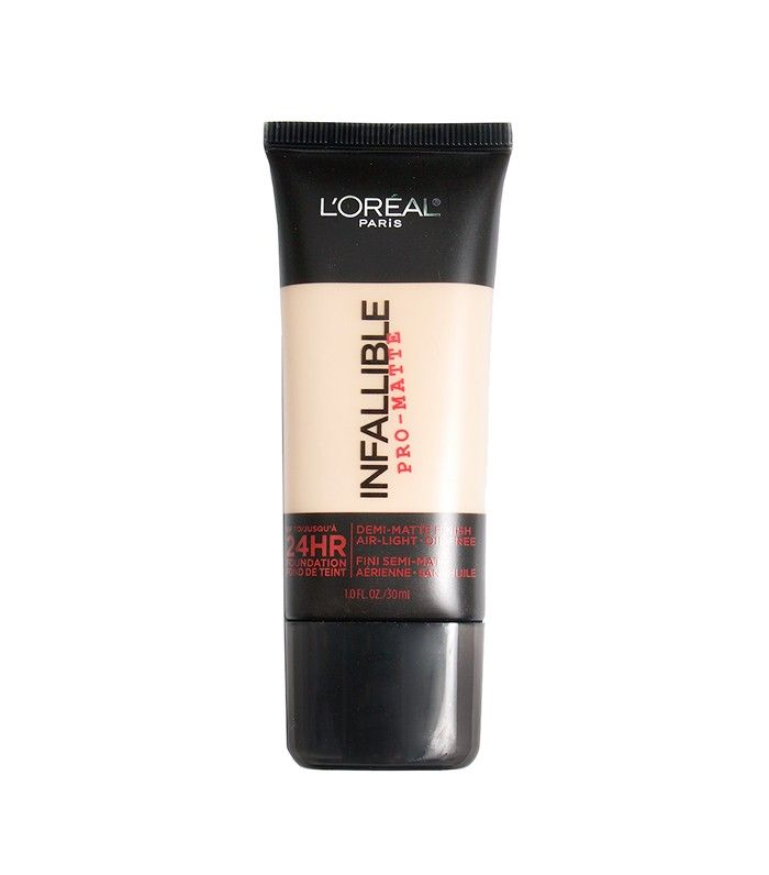 L'Oréal Infallible Pro-Matte 24hr Foundation ($13) Drugstore foundation is tricky territory, but L'Oréal's Infallible Pro-Matte is a rare standout. Makeup artists Nikkia Joy and Zachary Edward Hill agree that it blends beautifully and makes good on its promise of keeping the skin matte (but not cakey) for a full workday or night out.