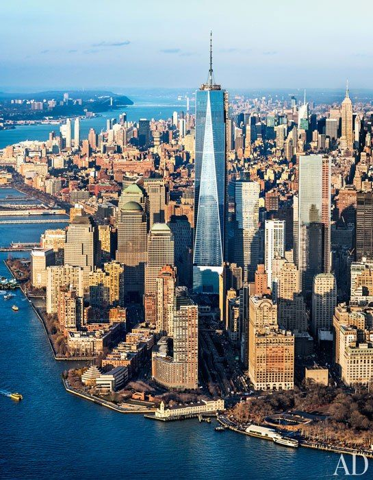New York City welcomes One World Trade Center to its skyline - skidmore, owings, merrill - manhattan - skyscraper #modern ☮k☮ #architecture