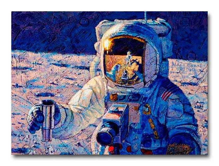 Peinture d'Apollo 12 par Alan Bean