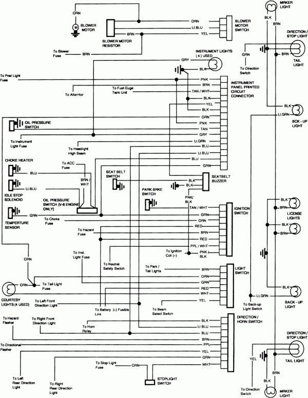12 1980 chevy truck wiring diagram  truck diagram