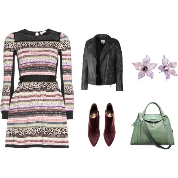 A fashion look from November 2014 featuring RED Valentino dresses, Fat Face jackets and H&M ankle booties. Browse and shop related looks.