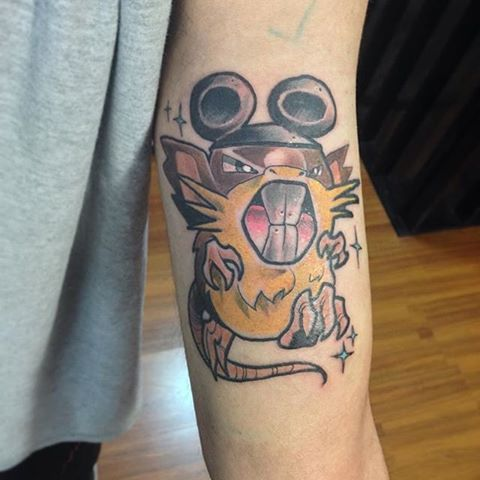 Raticate tattoo done by @simonzooktattoo. #tattoo #tattoos #ink #videogametattoo #gamertattoo #gamerink #videogames #gamer #gaming #nintendo #gameboy #nds #3ds #nintendo #raticate #pokemon #raticatetattoo #pokemontattoo #nintendotattoo