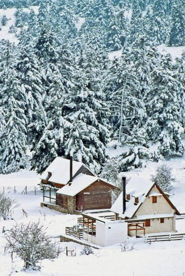 Snowy Livadi - Parnassus mountains, Arachova, Boeotia, Greece