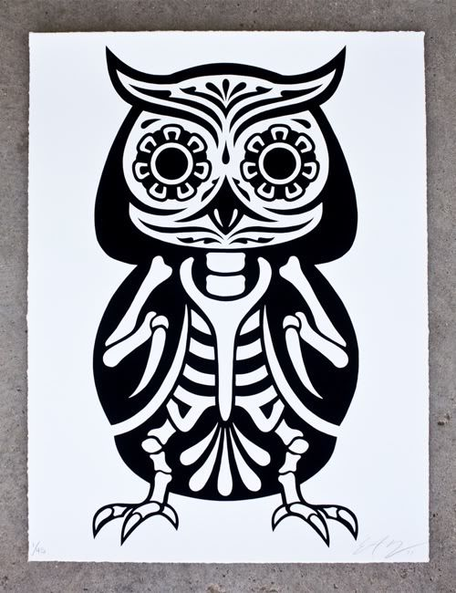 """Owl of the Dead"" Art Print by Ernesto Yerena"