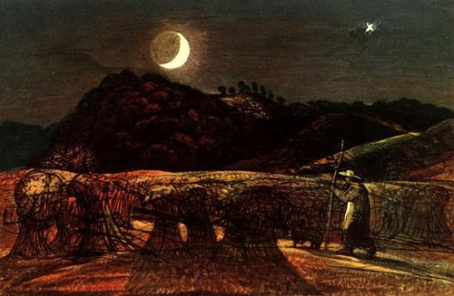 Samuel Palmer A Cornfield by Moonlight with the Evening Star c.1830