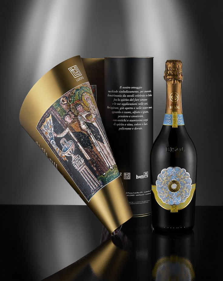 La Mariée. #Packaging and #labelling for a Prosecco wine bottle, insipred by an historical Queen, Teodora, and the mosaic representing its marriage. http://www.luxexforma.it/scheda-mariee-e-imperatrice.cfm
