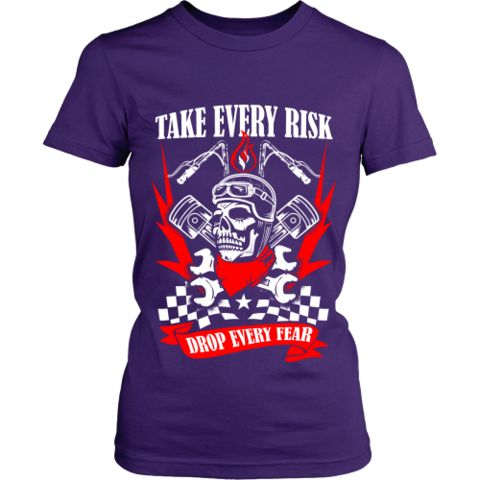 Motorcycle - 'Take Evey Risk' District Women's Fitted Shirt