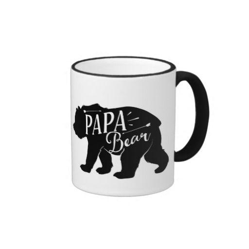 Papa Bear Mug, Papa Bear Cup, dad or papa gift,
