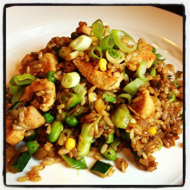 Brown Fried Rice with Chicken and Vegetables: Brown Rice, Vegetables ...