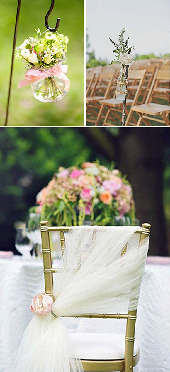 Ideas para decorar el pasillo en la ceremonia de boda                                                                                                                                                                                 Más