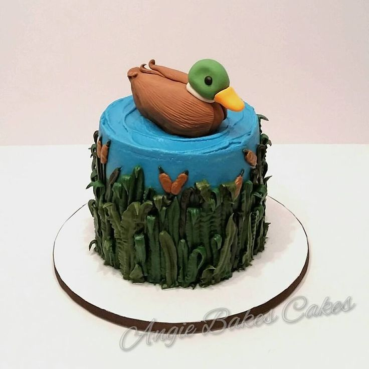 Duck hunting themed cake.