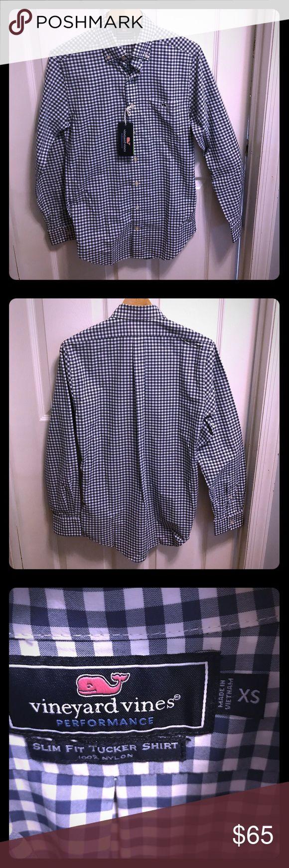 Selling this NWT Vineyard Vines shirt, XS, checkered blue on Poshmark! My username is: itsmebg. #shopmycloset #poshmark #fashion #shopping #style #forsale #Vineyard Vines #Other