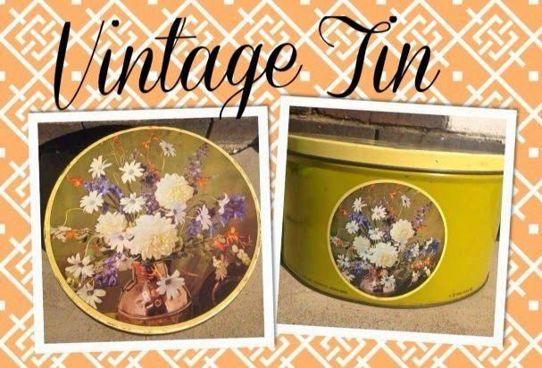 Vintage Biscuit Cookie Tin