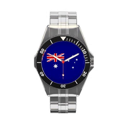 Australian flag wristwatch.