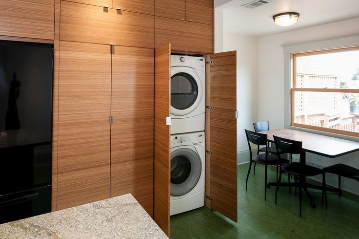 san francisco stackable washer dryer with contemporary ironing boards laundry room and granite linoleum floor