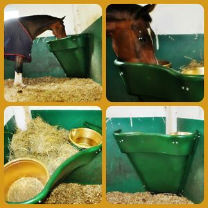 Horse Hay Feeder The All in One Feeding Station Corner Hay Feeder Choice Colours | eBay