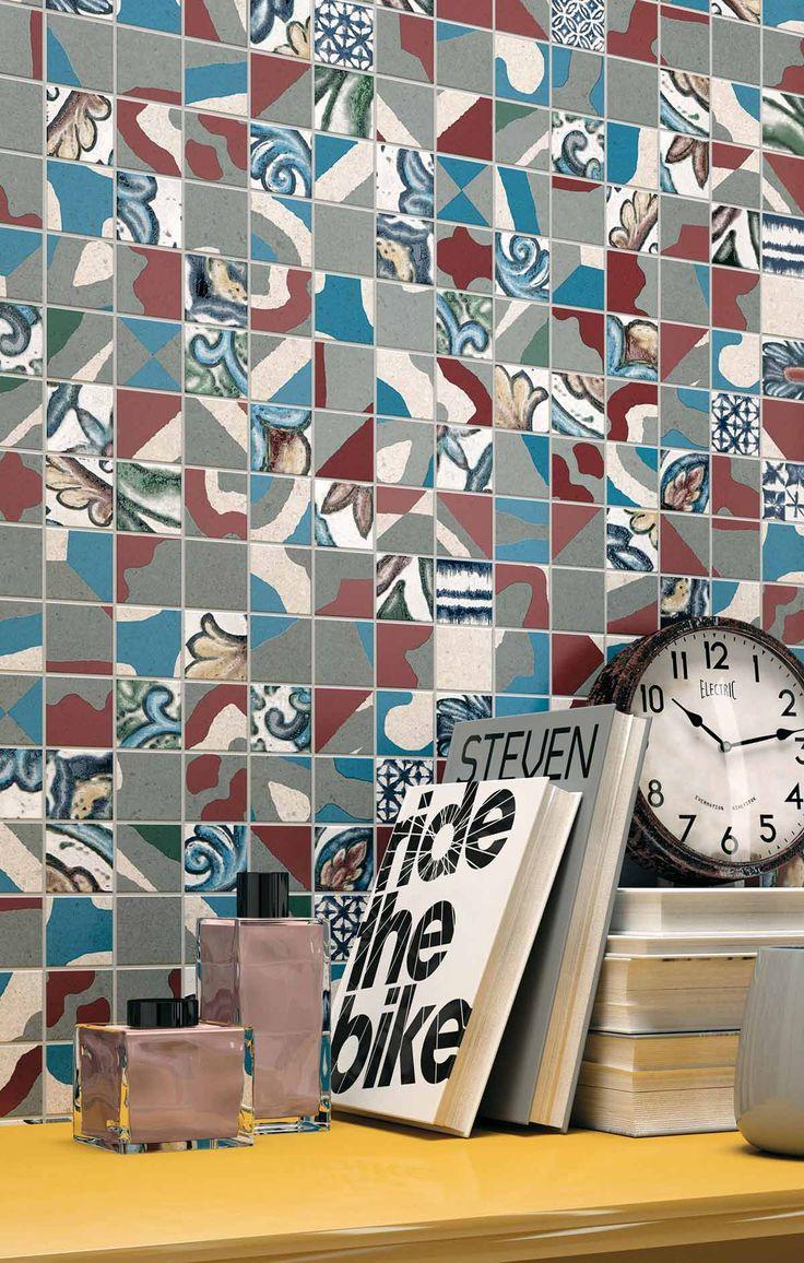 Mashup by Mirage / www.mirage.it / #cersaie2014  #gresporcellanato #ceramica #walltile #mashup #cemento #concrete #urban #industrialchic #industrial #urbanstyle #cement #grey