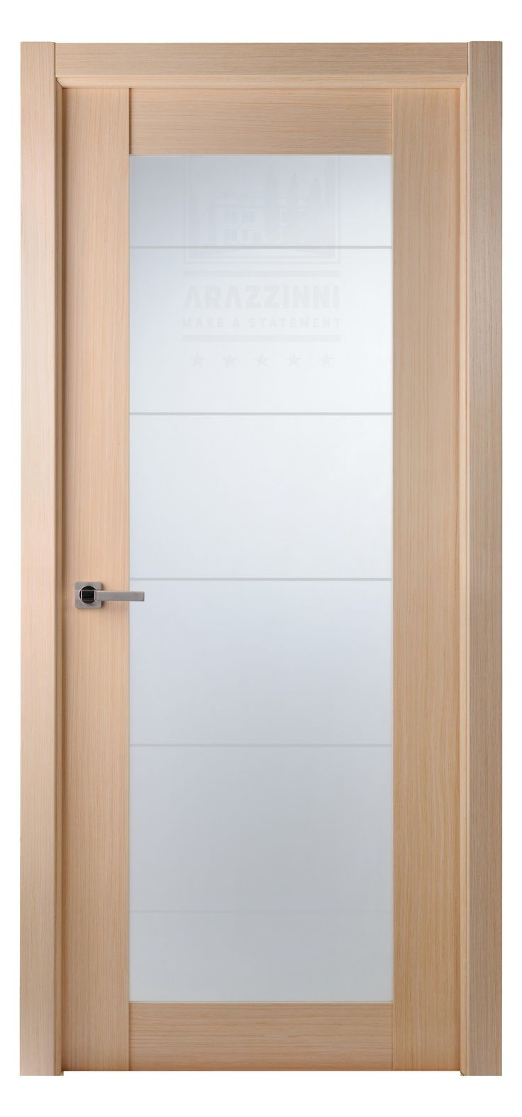 Maximum 209 Interior Door In A Bleached Oak Finish With Frosted Glass