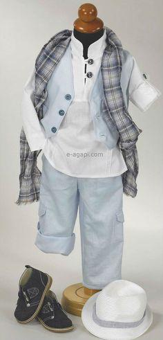 5 pcs Greek Baptism suit  Baby boy christening outfit by eAGAPIcom