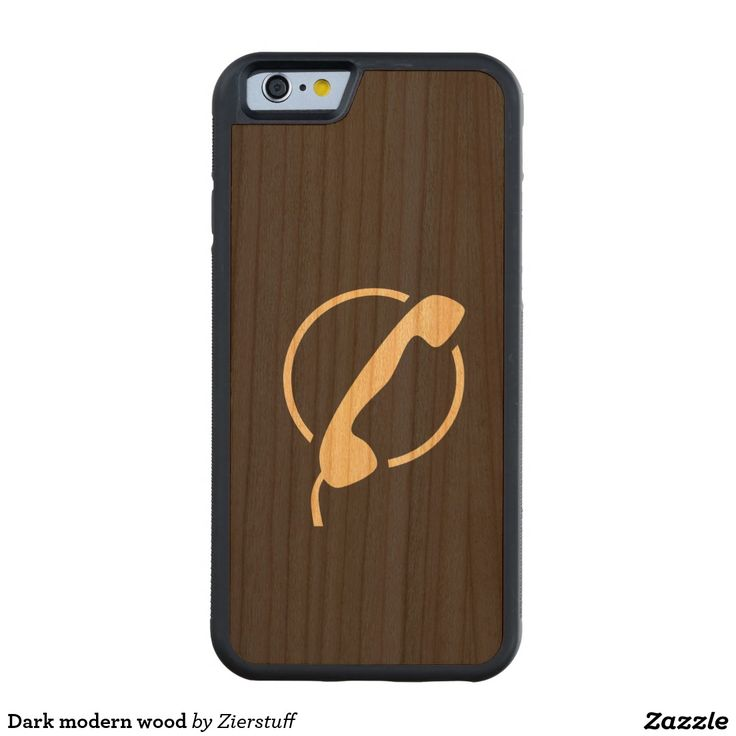 Dark modern wood carved® cherry iPhone 6 bumper