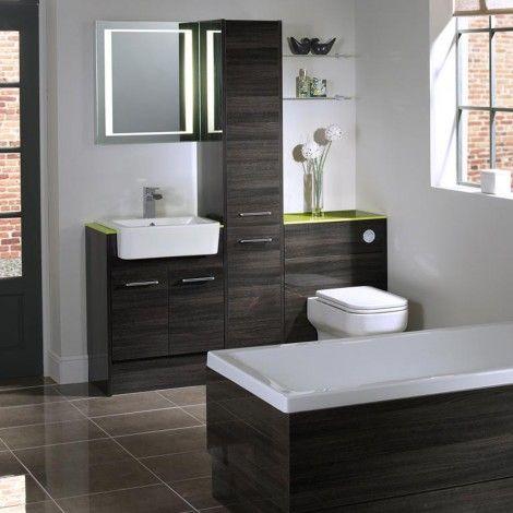 Vetro cinder fitted bathroom furniture | Roper Rhodes