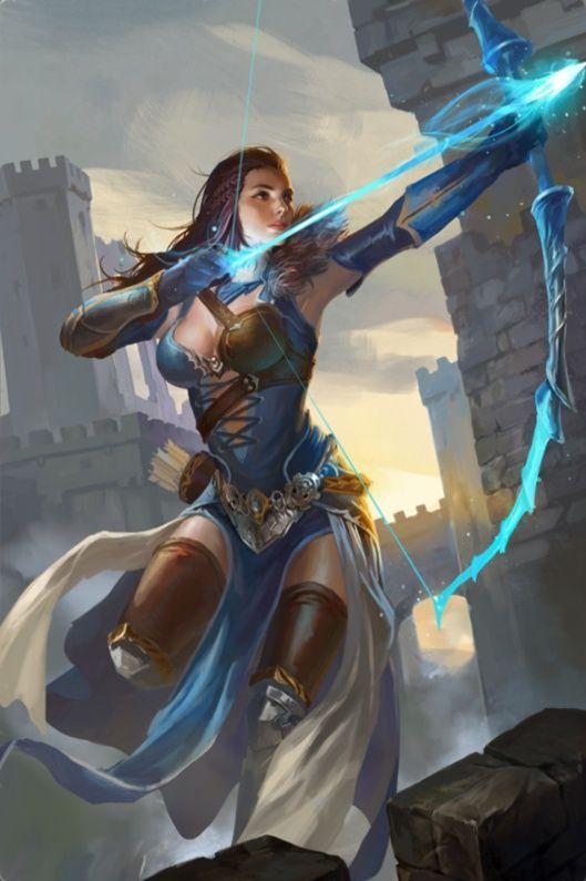 Princesa Lady, humana, guerreira, arqueira