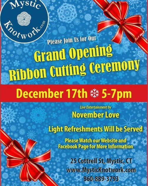 22 best ribbon cutting images on pinterest open house invitations mystic knotwork is having a ribbon cutting ceremony and party on thursday december 17 from 5 pm until 7 pm they invite you to stop by for some stopboris Gallery