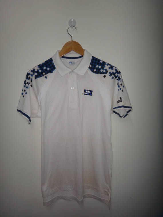 79ecf7e9b7 Vintage NIKE John McEnroe Tennis Shirt Checker Block Polo Shirt ...