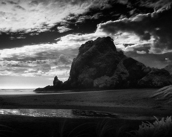 Lion Rock at Piha, NZ
