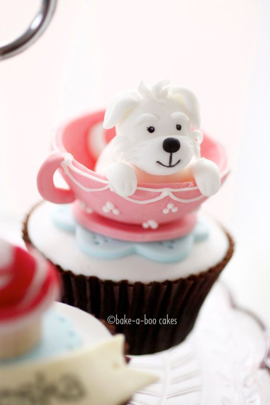 Cute Doggy Cupcake ♡