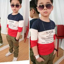 2015 moda Size90-150 otoño del resorte niños para niños de manga larga camisetas clothings niños remata camisetas maquillaje(China (Mainland))