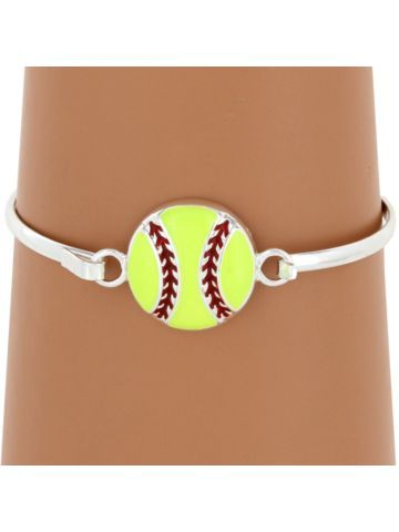 $2.75 Softball Silvertone Bangle