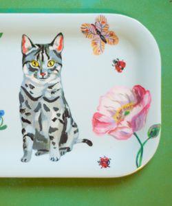 MINI BRICKA - Grey Cat www.thelovelyest.se