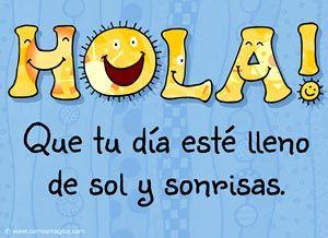 Tarjeta para decir HOLA! - Correomagico | Mágicas postales animadas gratis