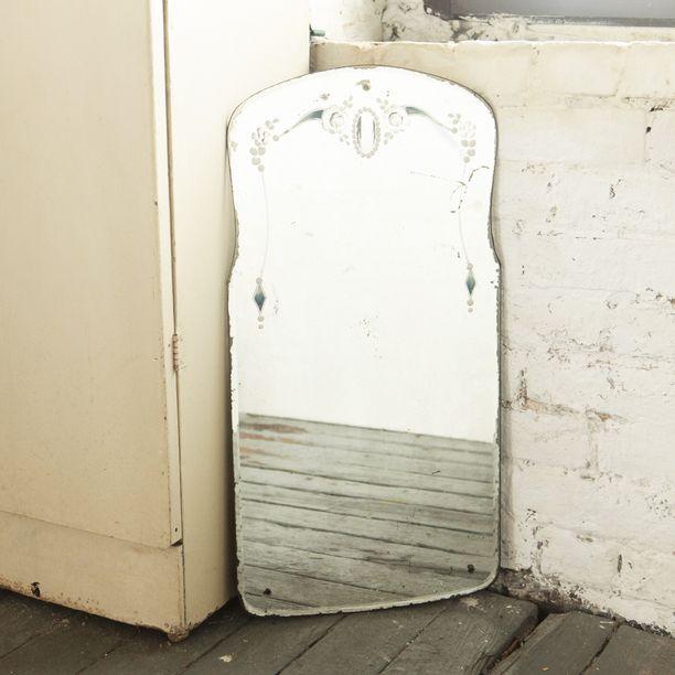 Etched Bathroom Mirror