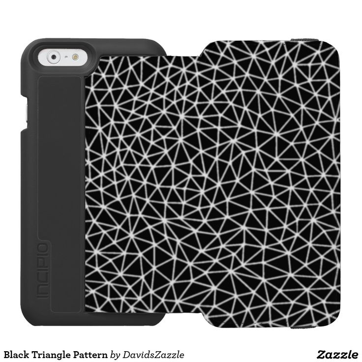 Black Triangle Pattern  Check out the site for more options@  #geometric #pattern #triangle #abstract #art #phone #case #laptop #accessory #computer #sleeve #protect #electronic #life #style #lifestyle #black #white #abstraction #line #cool #hip #chic #modern #wallet #tablet #folio #folding