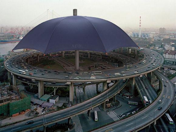 World s largest umbrella
