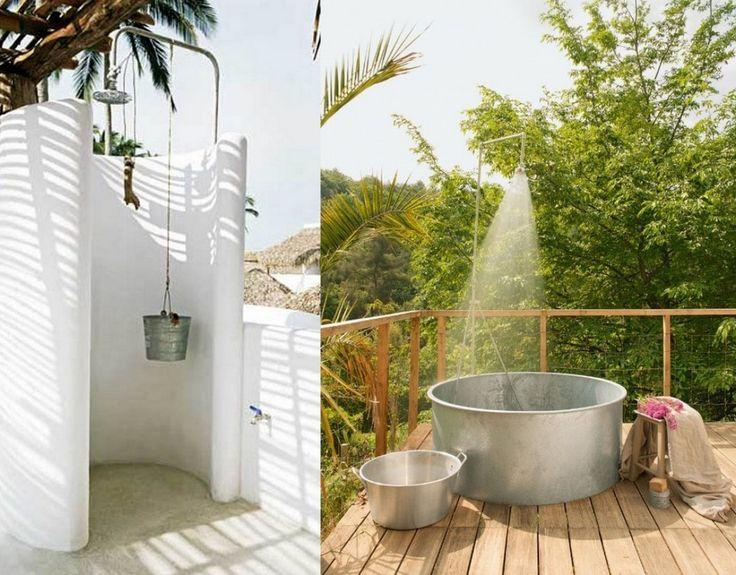Duchas de exterior – 10 ideas con estilo