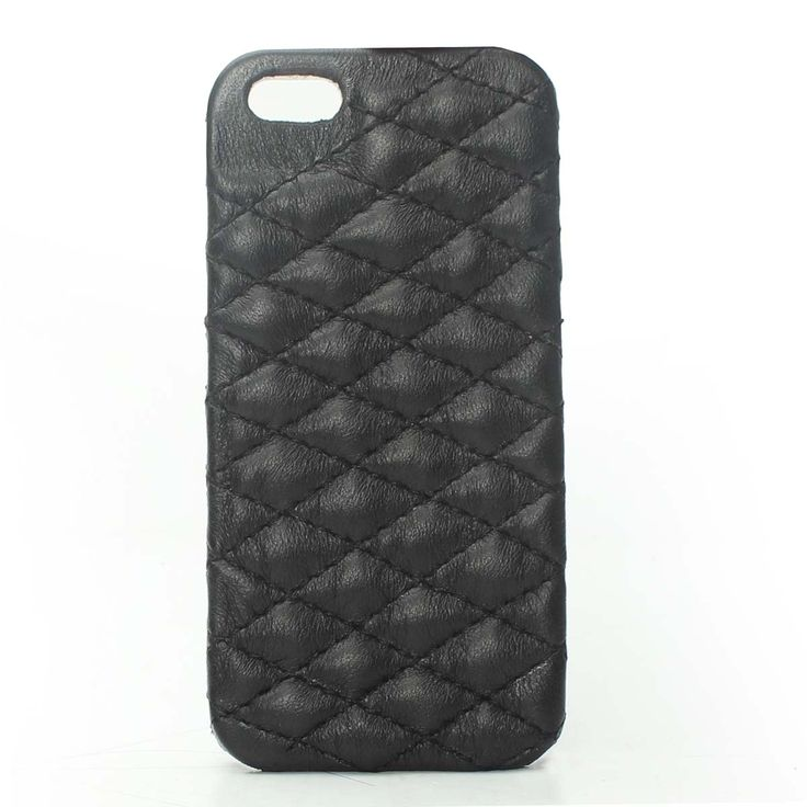 Buy online #DIAMOND STITCH BLACK LEATHER #MOBILE #COVER @ voganow.com for Rs.1,499/-