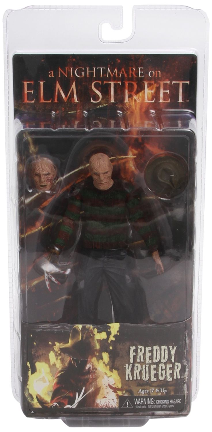 """NECA - A Nightmare on Elm Street """"Freddy Krueger"""" 7"""" Action Figure. From the """"NEW"""" A Nightmare On Elm Street. Comes with two interchangable heads and hats. Jackie Earle Haley Likeness. Great collector's Item. High Quality from NECA."""