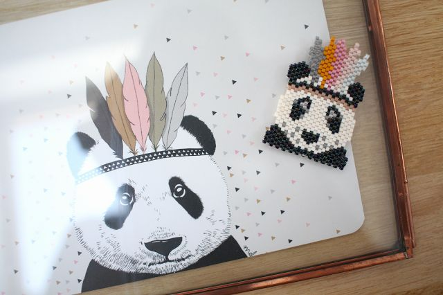 Miyuki Panda motif MaayleChic