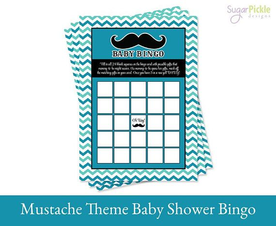 Check out Mustache Baby Bingo Printable, Mustache Baby Shower printable, Baby Shower Bingo, Mustache Party Printable, Mustache baby shower game on sugarpickleparty