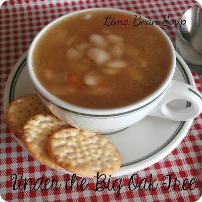 ~Under the Big Oak Tree~: Lima Bean Soup ~ A Low Calorie, Low Budget Recipe
