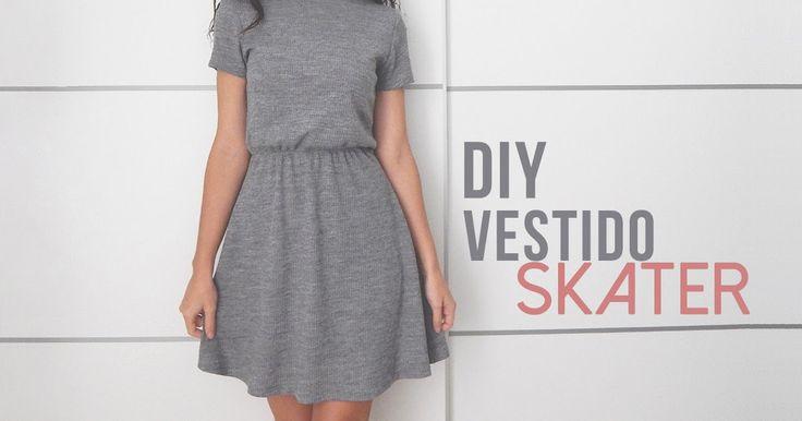 !Hola! Para la entrada de hoy traigo el paso a paso con el que hacer este vestido de punto gris, un vestido con corte skater que se a...