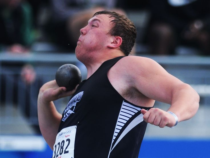 CMB's Will Clapper throws the shot put during the high school boys' shot put in the Drake Relays at Drake Stadium on Thursday in Des Moines. Clapper finished 23rd. Photo by Nirmalendu Majumdar/Ames Tribune http://www.amestrib.com/sports/20170427/boys-track-clapper-swart-take-in-drake-relays