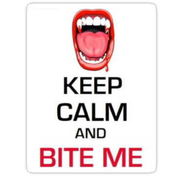 Keep Calm Theory - BITE ME STICHERS by Alchimia