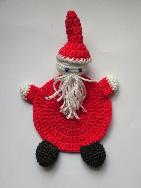 Podkładka pod kubek Mikołaj - jak zrobić? #DIY #TUTORIAL #SZYDEŁKO #HANDMADE