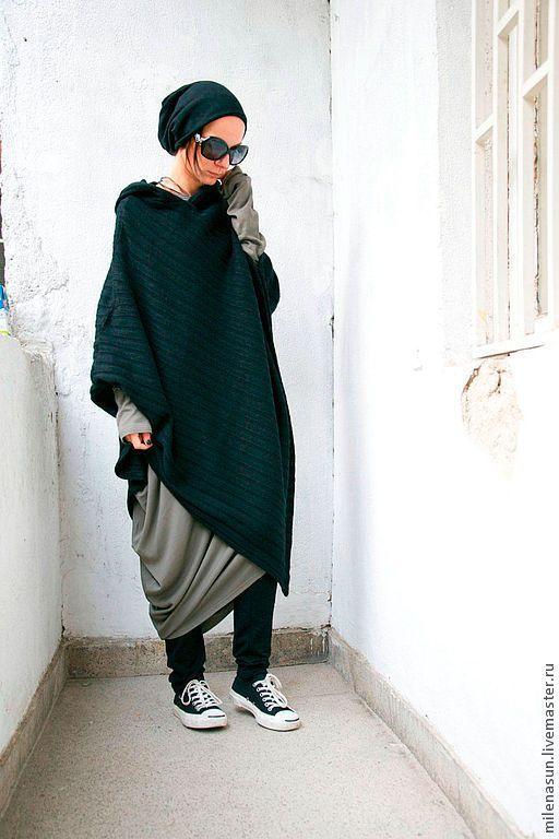 Пончо теплое пончо вязаное бохо стиль одежда бохо одежда больших размеров стильная одежда одежда на зиму теплая одежда